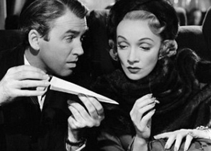 Marlene Dietrich and James Stewart in No Highway (1951)