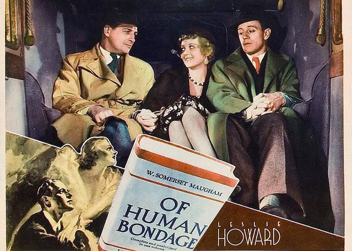 Bette Davis, Leslie Howard, and Reginald Denny in Of Human Bondage (1934)