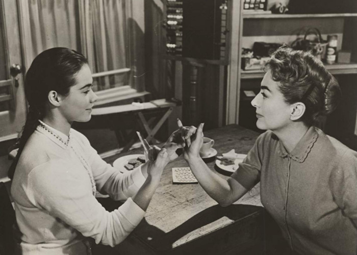 Joan Crawford and Heather Sears in The Story of Esther Costello (1957)