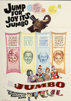 Doris Day, Stephen Boyd, Jimmy Durante, and Martha Raye in Billy Rose's Jumbo (1962)
