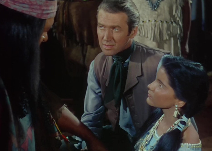 James Stewart and Debra Paget in Broken Arrow (1950)
