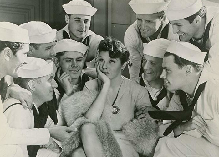Richard Denning, Martha Raye, and Jack Whiting in Give Me a Sailor (1938)