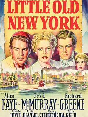 Alice Faye, Richard Greene, Brenda Joyce, and Fred MacMurray in Little Old New York (1940)