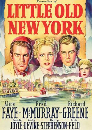 Alice Faye, Richard Greene, Brenda Joyce, and Fred MacMurray in Little Old New York (1940)