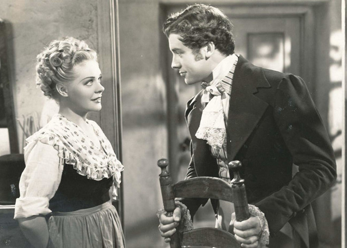 Alice Faye and Richard Greene in Little Old New York (1940)