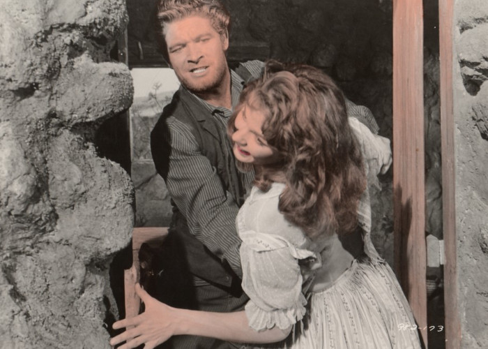 Stephen Boyd and Joan Collins in The Bravados (1958)