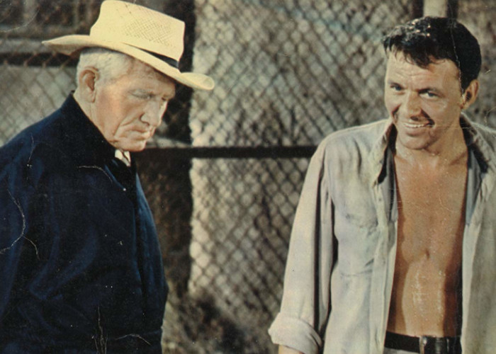 Frank Sinatra and Spencer Tracy in The Devil at 4 O'Clock (1960)
