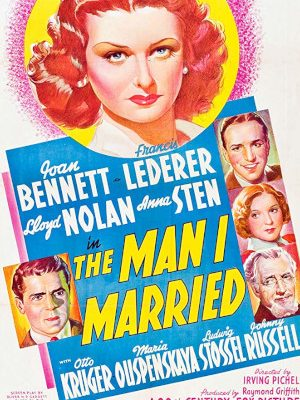 Joan Bennett, Otto Kruger, Francis Lederer, Lloyd Nolan, and Anna Sten in The Man I Married (1940)