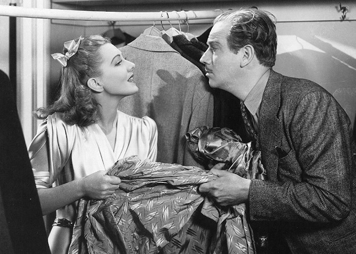 Jean Arthur and Melvyn Douglas in Too Many Husbands (1940)