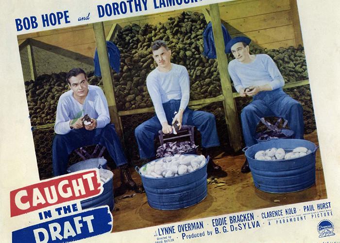 Bob Hope, Eddie Bracken, and Lynne Overman in Caught in the Draft (1941)