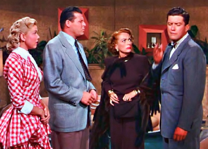 Doris Day, Joan Crawford, Jack Carson, and Dennis Morgan in It's a Great Feeling (1949)