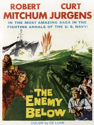 Robert Mitchum and Curd Jürgens in The Enemy Below (1957)