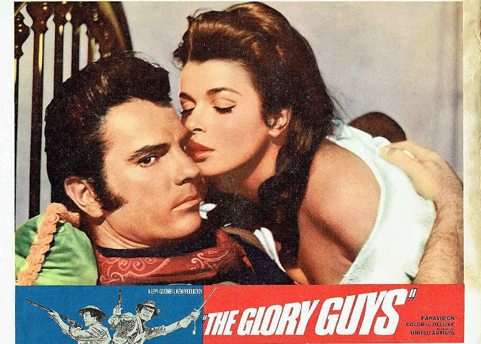 Senta Berger and Tom Tryon in The Glory Guys (1965)
