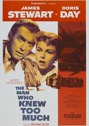 Doris Day and James Stewart in The Man Who Knew Too Much (1956)