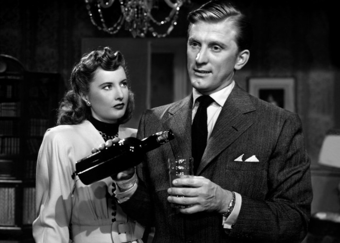 Kirk Douglas and Barbara Stanwyck in The Strange Love of Martha Ivers (1946)