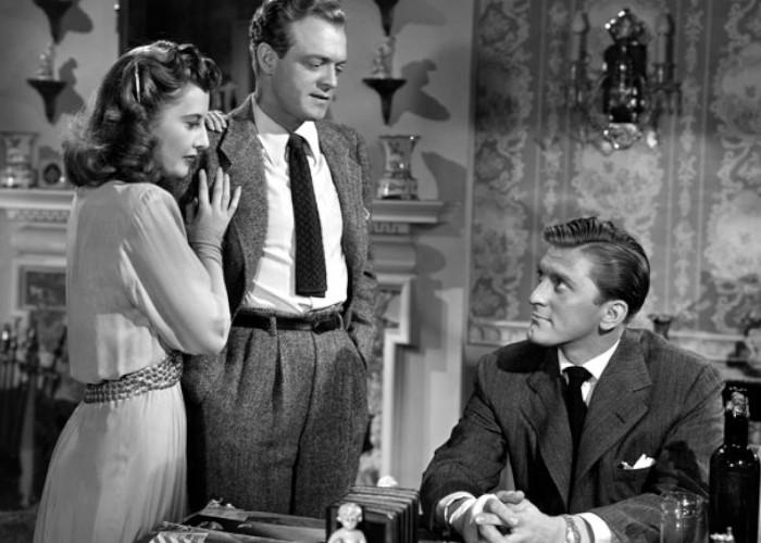 Kirk Douglas, Van Heflin, and Barbara Stanwyck in The Strange Love of Martha Ivers (1946)