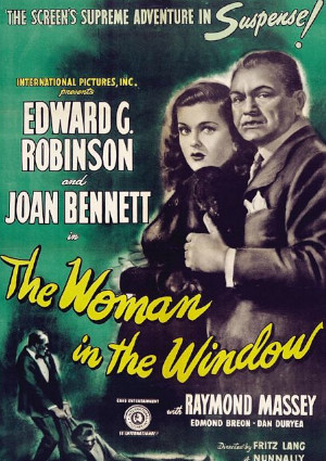 Edward G. Robinson and Joan Bennett in The Woman in the Window (1944)