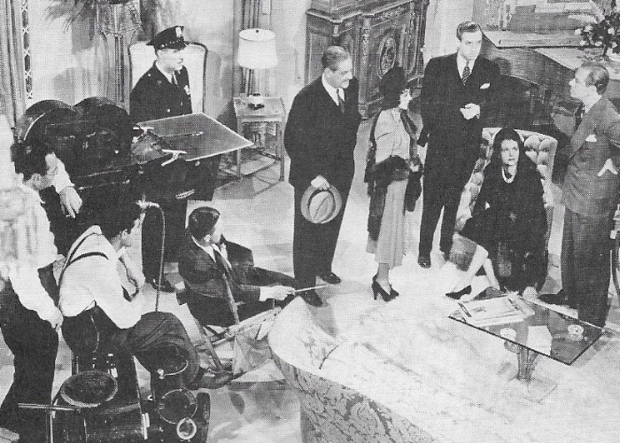 Rita Hayworth, Mary Astor, Melvyn Douglas, Alexander Hall, Thurston Hall, George McKay, and Robert Paige in There's Always a Woman (1938)