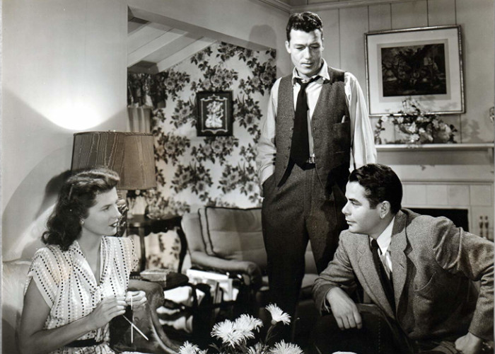 Glenn Ford, Jim Bannon, and Janis Carter in Framed (1947)