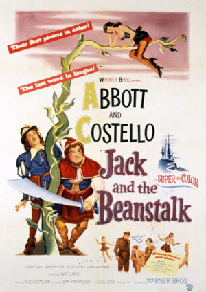 Bud Abbott, Lou Costello, and Dorothy Ford in Jack and the Beanstalk (1952)