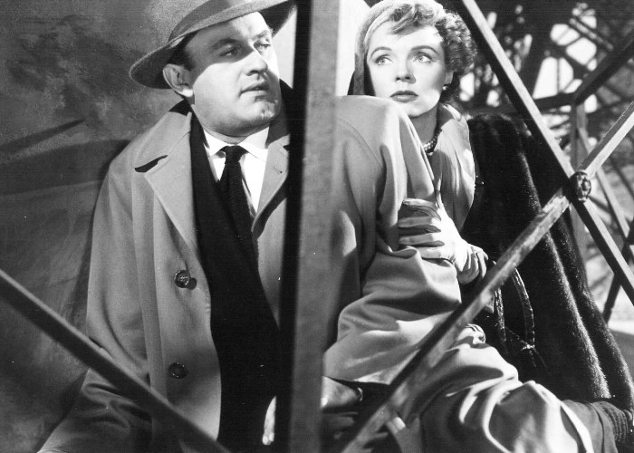 Lee J. Cobb and Jane Wyatt in The Man Who Cheated Himself (1950)