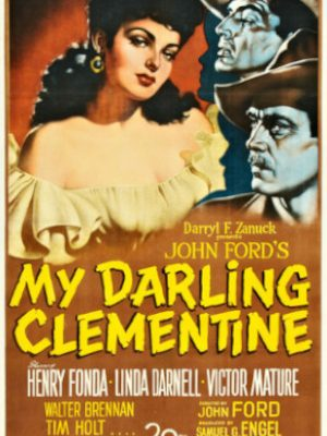 Henry Fonda, Linda Darnell, and Victor Mature in My Darling Clementine (1946)