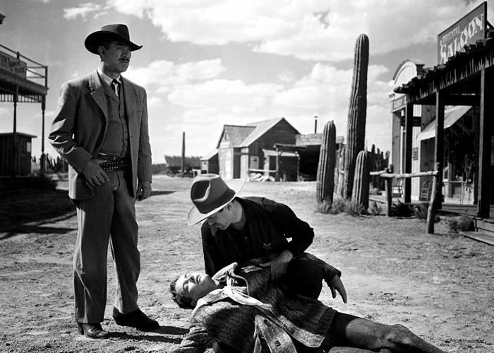 Henry Fonda, Ward Bond, and Tim Holt in My Darling Clementine (1946)