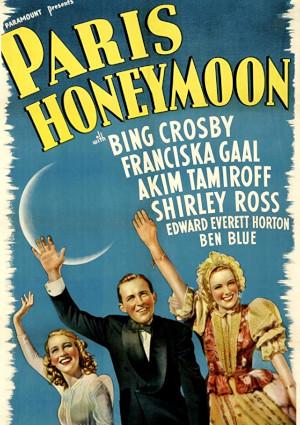 Bing Crosby, Franciska Gaal, and Shirley Ross in Paris Honeymoon (1939)