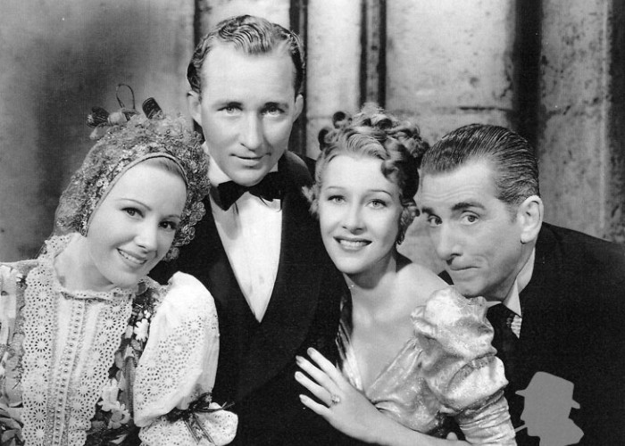 Bing Crosby, Edward Everett Horton, Franciska Gaal, and Shirley Ross in Paris Honeymoon (1939)