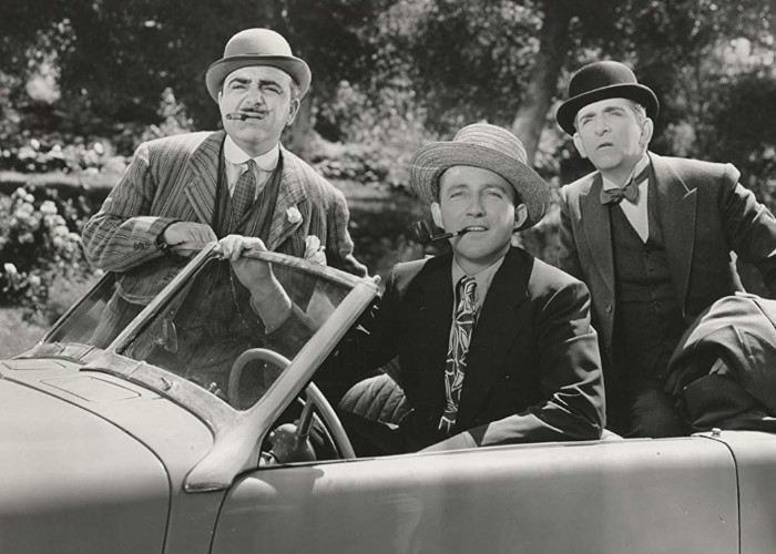 Bing Crosby, Edward Everett Horton, and Akim Tamiroff in Paris Honeymoon (1939)
