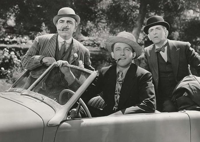 Bing Crosby, Edward Everett Horton, and Akim Tamiroff in Paris Honeymoon (1939)