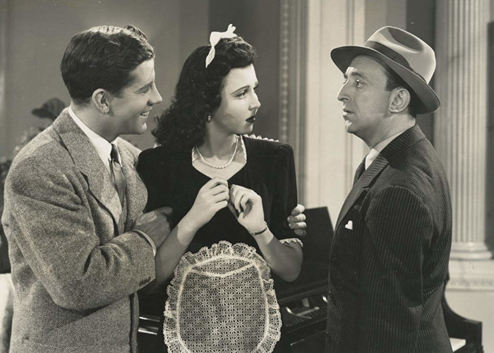 Allen Jenkins, Ann Miller, and Rudy Vallee in Time Out for Rhythm (1941)