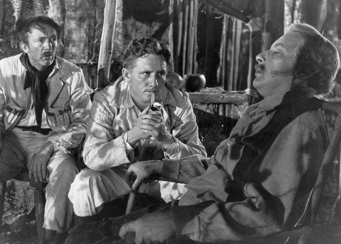 Spencer Tracy, Walter Brennan, and Cedric Hardwicke in Stanley and Livingstone (1939)