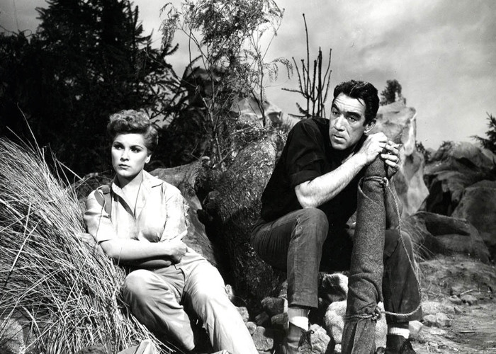 Anthony Quinn and Debra Paget in The River's Edge (1957)