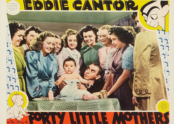 Veronica Lake, Eddie Cantor, Margaret Early, Frances Gifford, Bonita Granville, Rita Johnson, Louise La Planche, Charlotte Munier, Martha O'Driscoll, Bertha Priestley, Baby Quintanilla, and Louise Seidel in Forty Little Mothers (1940)