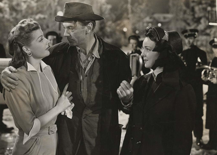 Gary Cooper, Ann Lawrence, and Ann Sheridan in Good Sam (1948)