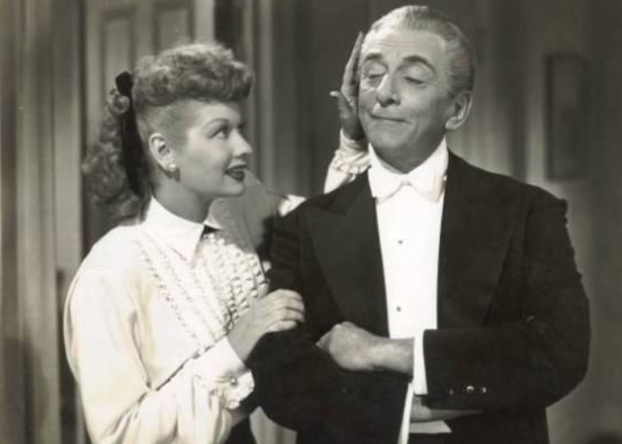 Lucille Ball and Edward Everett Horton in Her Husband's Affairs (1947)