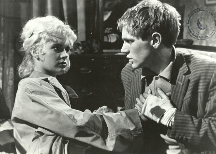 Adam Faith and Carol White in Never Let Go (1960)
