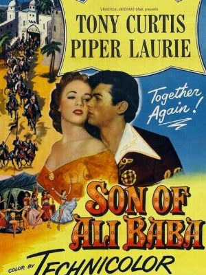 Tony Curtis and Piper Laurie in Son of Ali Baba (1952)
