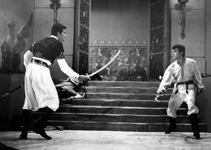 Tony Curtis and Hugh O'Brian in Son of Ali Baba (1952)
