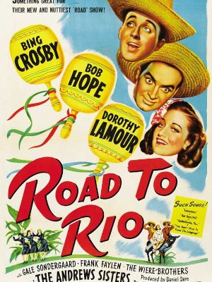 Bing Crosby, Bob Hope, and Dorothy Lamour in Road to Rio (1947)