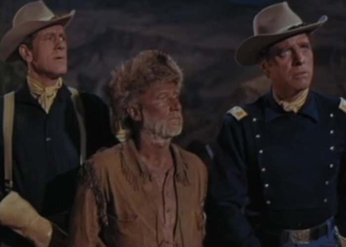 Burt Lancaster, Donald Pleasence, and John Anderson in The Hallelujah Trail (1965)