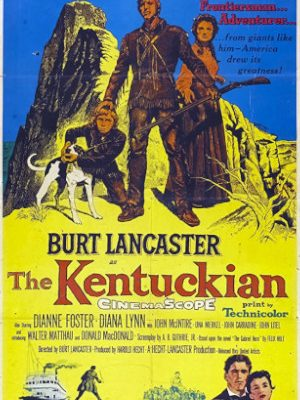 Burt Lancaster, Dianne Foster, and Donald MacDonald in The Kentuckian (1955)
