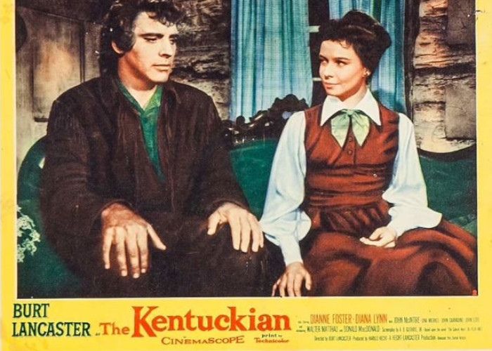 Burt Lancaster and Dianne Foster in The Kentuckian (1955)