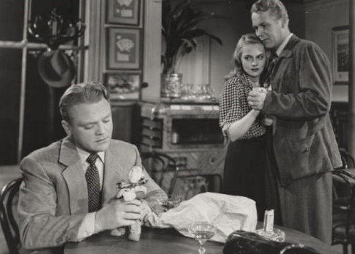 James Cagney, Jeanne Cagney, and Wayne Morris in The Time of Your Life (1948)