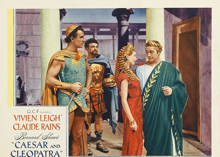 Vivien Leigh, Stewart Granger, Claude Rains, and Basil Sydney in Caesar and Cleopatra (1945)