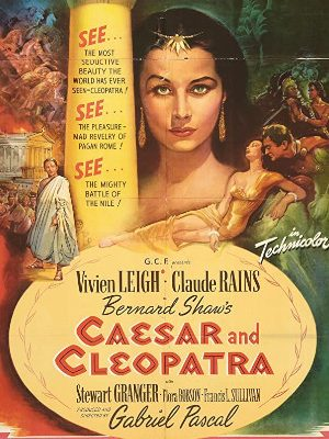 Vivien Leigh, Stewart Granger, and Claude Rains in Caesar and Cleopatra (1945)