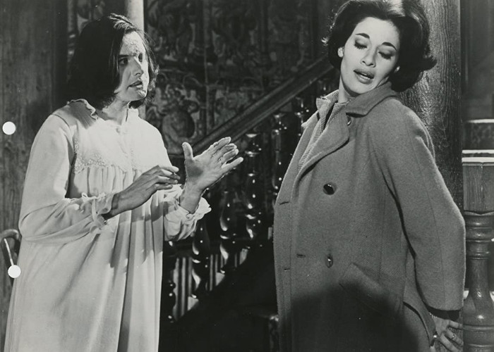 Carole Gray and Mary Manson in Curse of the Fly (1965)