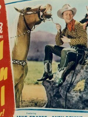 Roy Rogers, Trigger, and Bullet in Grand Canyon Trail (1948)