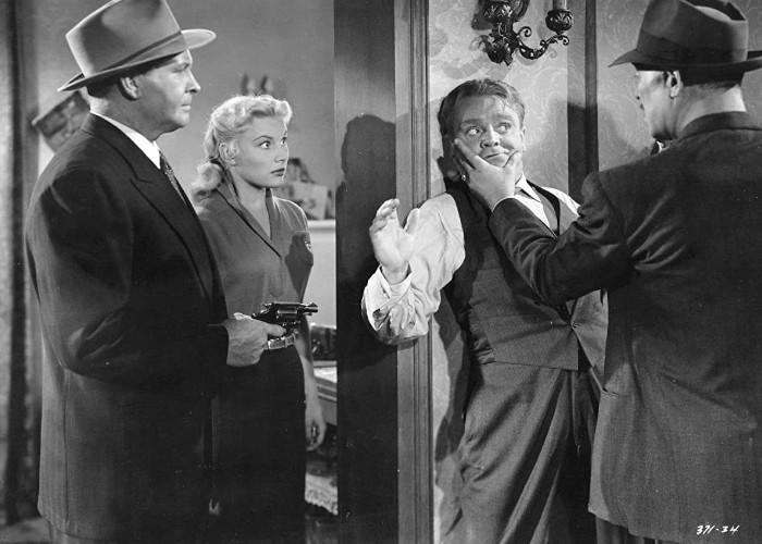 James Cagney, Ward Bond, Barton MacLane, and Barbara Payton in Kiss Tomorrow Goodbye (1950)